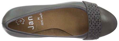 Jana 22300, Chaussures à talons - Avant du pieds couvert femme Grau (grau (GRAPHITE 206 ))