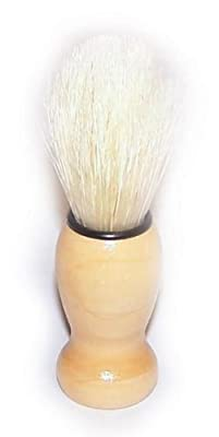 Wooden Old Fashioned Mens Shaving Brush - Wood handle by buyallmeans.co.uk