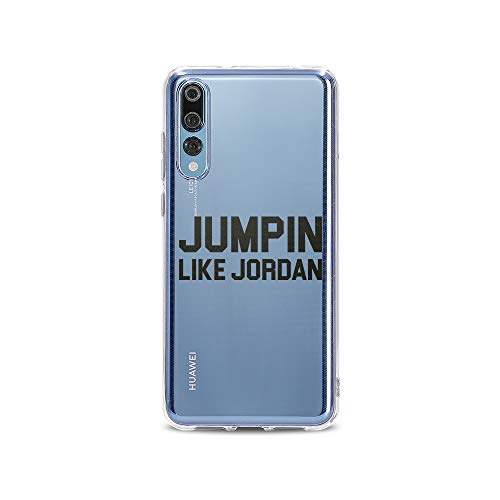 licaso Huawei P20 Pro Handyhülle Smartphone Huawei Case aus TPU mit Jumpin Like Jordan Print Motiv Slim Design Transparent Cover Schutz Hülle Protector Soft Aufdruck Lustig Funny Druck