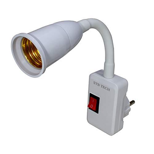 Stbtech prise en applique murale LED Lumières Flexible Swing Arm LED Lampes de mur Lampes de travail avec interrupteur on/off, Douille E27support de lampe Lot de 1