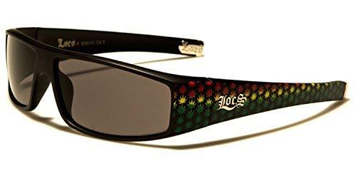 94d23faaa75455 SDK SUNGLASSES Neuf Locs Rectangle Style Mince - Solide Noir ou Blanc  Monture à Reflets Lentilles