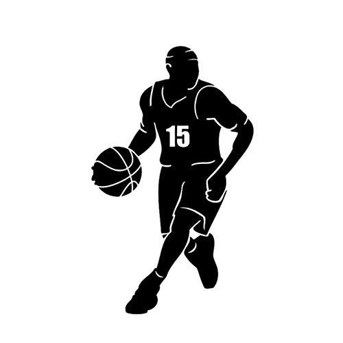 Auto-Autoaufkleber-Abziehbild Interessante Basketballkorb Sport Spiel Auto Aufkleber Decor Vinyl Hohe Qualität Silhouette 10,6 * 17,7 CM 2 Stück