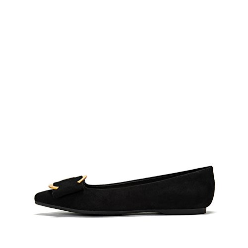 Womens Shoes Sur Toile, Chaussures Plates ,Bas Talon-pointu Chaussures à Bouche Peu Profonde A