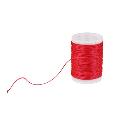 FLAMEER Nylon Wickelgarn 110m 0,4mm - Rot - Thread Nylon Paket