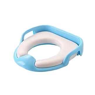 31LGPpkgLDL. SS324  - Asiento de Inodoro,Tapa WC Plegable para Niños,Asiento Reductor para bebé,Toilet Trainer Seat portátil adecuado para mayoría de tamaños de inodoro(Azul)