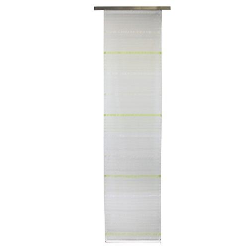 Gözze Schiebevorhang, Transparent, 60 x 245 cm, Casablanca-Light, Grün, 66017-80-6045