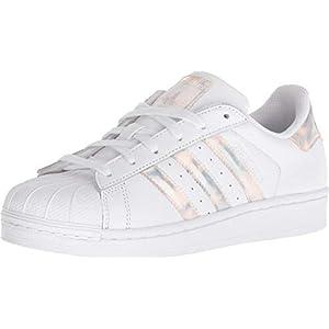 adidas Originals Unisex-Kinder Superstar Sneaker, weiß/pink