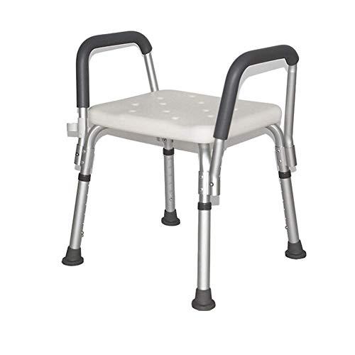 OOFAYWFD Duschhocker Duschstuhl Höhenverstellbar,Badehocker Badestuhl mit armlehnen,Unterstützt bis zu 136 kg