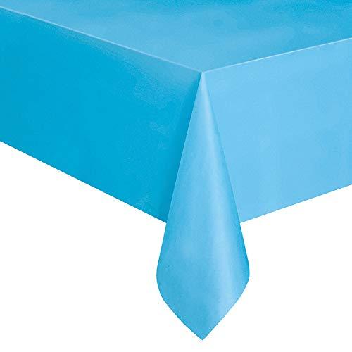 Rycnet Einweg-Tischdecke, Kunststoff, einfarbig, 137 x 183 cm königsblau