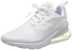 Nike Herren Air Max 270 (gs) Leichtathletikschuhe, Weiß (White/White/Metallic Silver 000), 39 EU