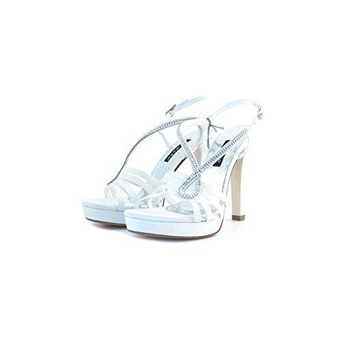 Decolte', sandali da sposa Albano, in raso bianco, taglia: 41