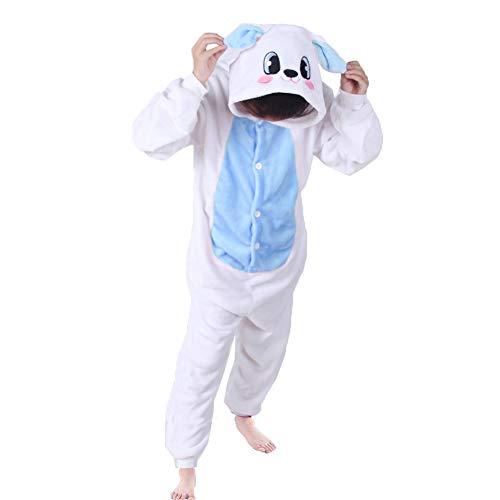 ma Strampler Schlafanzug Tier Kostüm für Halloween Karneval Fasching, Kaninchen Blau Kostüm, Gr. 92/98 (Herstellergröße 85/100) ()