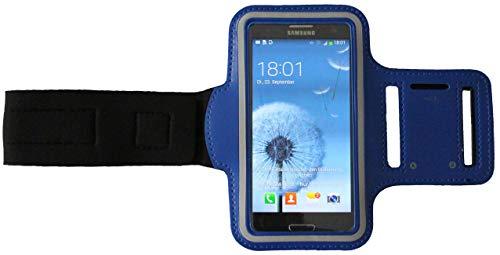 Sport Armband Schweißfest Schutztasche für BlackBerry Q10 Fitness Handyhülle Armtasche mit Kopfhöreranschluss, Laufen, Blank S Dunkel-Blau