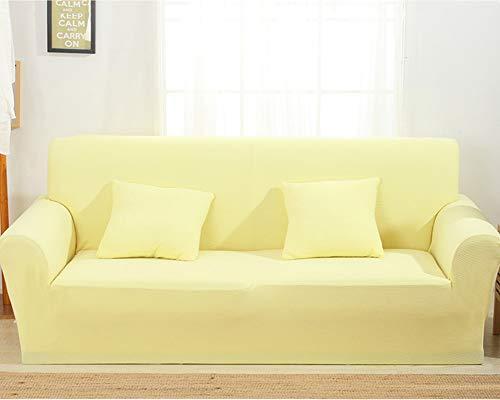 TSSCY Sofa Überwurf Anti-rutsch,Couch-Decken Stretch hussen Stuhl beschützer Sofa wirft Möbel Sessel Loveseat Sofa wirft Anti-mite Polyester-Gelb 1 Sitzer/Stuhl