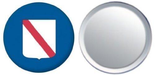 Miroir insigne de bouton Italie Campania drapeau - 58mm