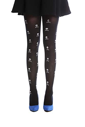 DRESS ME UP - W-018 Panti Medias Carnaval Halloween negro huesos...