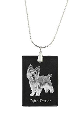 ArtDog Ltd. Cairn Terrier, Hund Kristall Anhänger, Silver Halskette 925, Hohe Qualität