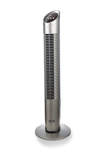 ARGO Aspire Tower Ventilatore di Design, 230 V, Argento