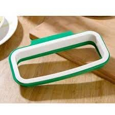Premsons® Plastic Attachable Kitchen Cupboard Hanging Garbage Bag Holder, Green