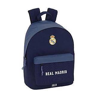 31LGon5ft1L. SS324  - Safta Real Madrid Mochila Escolar, 41 cm, Azul