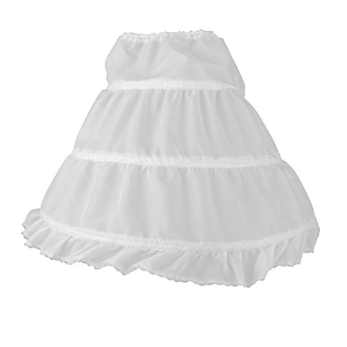 T TOOYFUL Brautjungfer Kinder Flowergirl Hoopless Net Petticoat Rock Kid Unterrock