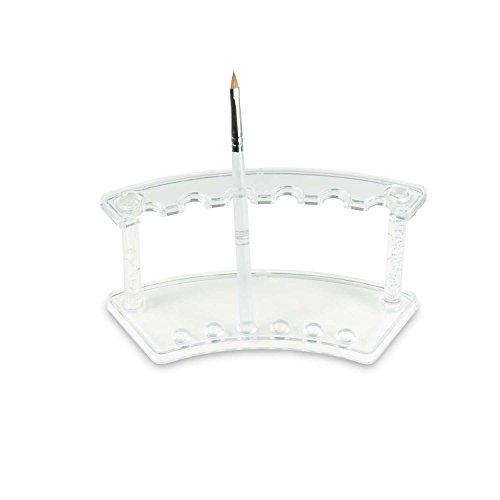 N&BF Feilenbox/Pinselbox Acryl   Aufbewahrungs-Behälter für Nagelfeilen, Pinsel und Schminkpinsel   Hygienebox für Nailart und Nageldesign Werkzeuge   Arbeitsmaterial Halter
