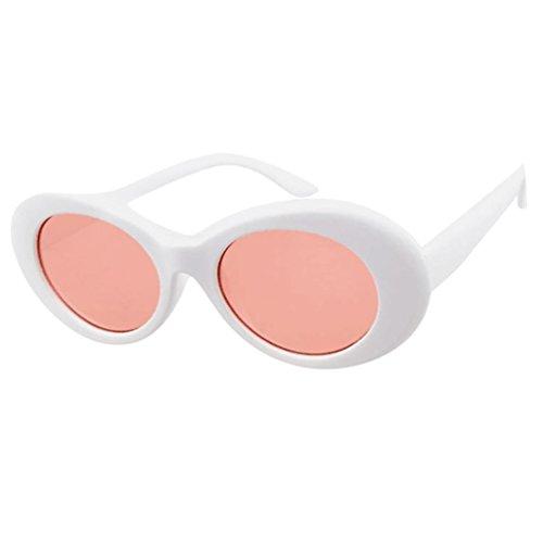 98d2111a93560 JoyJay Retro Vintage Clout Goggles Unisex Sunglasses Rapper Oval Shades  Grunge Glasses (C)