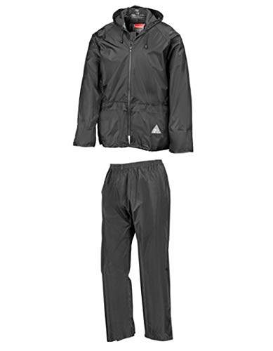 Regenanzug ( Jacke und Hose), absolut wasserdicht ,black, XL XL,Black
