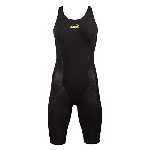 ZAOSU Wettkampf-Schwimmanzug Z-SPEED für Damen & Mädchen, Farbe:schwarz, Größe:140