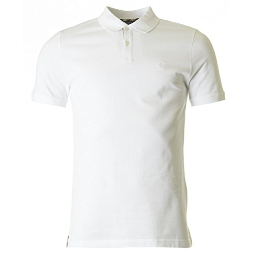 Aquascutum Hilton Concealed Checked Placket Polo White