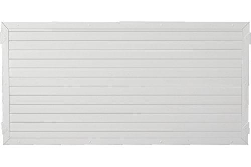 Sichtschutzzaun Kunststoff weiß 180 x 90 cm (Serie Juist)