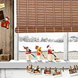 """Rouleau de bambou naturel à fenêtre Store romain Abat-jour Pare-soleil Wb-a016, Bambou, bambou, W32"""" X H72"""""""