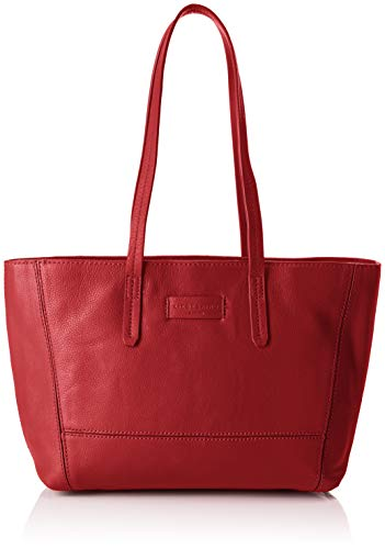 Liebeskind Berlin Damen Essential Shopper Medium Schultertasche, Rot (Italian Red), 28x22.5x11.5 cm (B x H x T) -