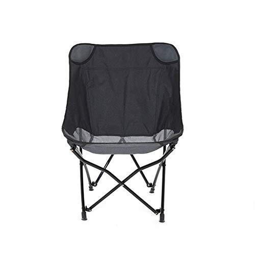 SMBYLL Chaise Pliante d'extérieur, Chaise de Plage portative à l'arrière, Poids léger et Rangement Pratique, Deux Couleurs en Option Chaise Pliante (Couleur : Noir)