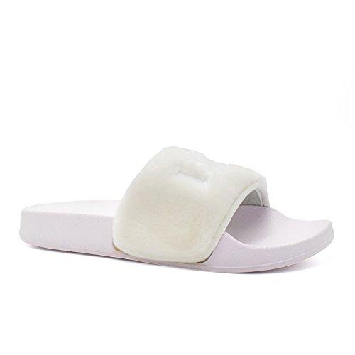 London Footwear ,  Damen hinten offen Weiß