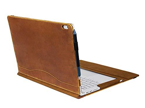 Calfinder Surface Book 2 Tasche - 13,5 Zoll Crazy-Horse-Leder, Magnetic Attraction Abnehmbare zwei Verwendungsmöglichkeiten, handgefertigte Vintage-Laptop-Hülle (Vintage-tablet-fall)