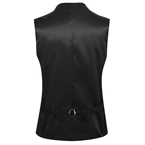 Zhuhaitf Atmungsaktiv Mens V-neck High Quality Business Suit Jacket Vest Single-Breasted Button Down Black