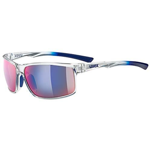 Uvex Erwachsene lgl 44 colorvision Sonnenbrille Mit Kontraststeigerung, Clear-Blue, One Size