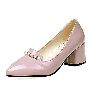 RTRY Donna Luce Tacchi Suole Pu Estate Abbigliamento Casual Blocco Tacco Arrossendo Rosa Nero Beige 2A-2 3/4In US6.5-7 / EU37 / UK4.5-5 / CN37