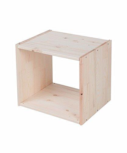 Lenmar Regalwürfel Cube, Grundmodul Fichte natur, Regalwürfel aus Massivholz, erweiterbar zum...
