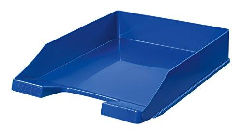 HAN Briefablage KLASSIK 1027-X-14 in Blau/Hochwertige, stapelbare Ablage im modernen Design/Für Briefe & Papiere bis Format A4–C4, 10 Stück