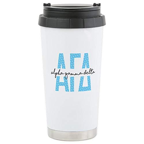 CafePress-Alpha Gamma Delta-Thermobecher Edelstahl, isoliert 16Oz Coffee Tumbler Alpha-tumbler