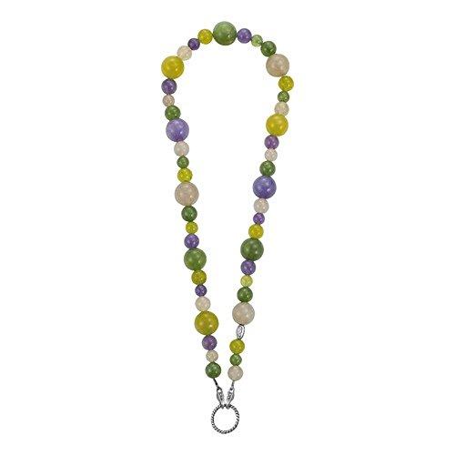 edc by Esprit Schmuck Kette 42 cm edgy starlet große und kleine Perlen von 0,6 cm bis 1,3 cm aus Kunststoff