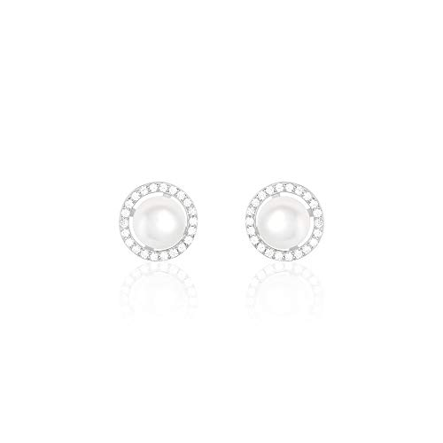 You.Me.We. - Boucles D'oreilles Puce'Rounded pearl' - Perles...