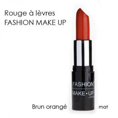 Fashion Make-Up FMU1200124 Rouge à Lèvres N°24 Brun Orange Mat