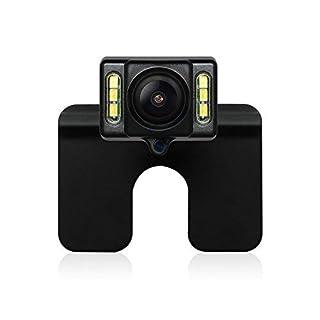 AUTO-VOX CAM1 FHDAuto Rückfahrkamera EU-Nummernschild Rückansichtkamera mit IP68 Wasserfestigkeit, Hochhelligkeit Bildsensor, Nachtsicht mit 6 LEDs für die meisten Automodelle inklusiv Truck&RV