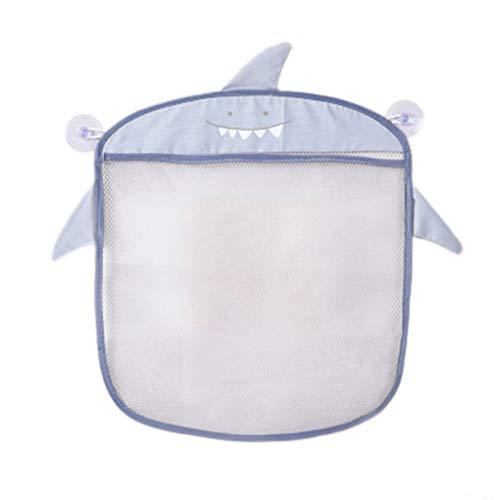 fish Colgando de Almacenamiento de baño de Pared de Dibujos Animados Bolsas de Punto Red de Malla Bolsa del baño del bebé Juguetes Champú Organizador de contenedores