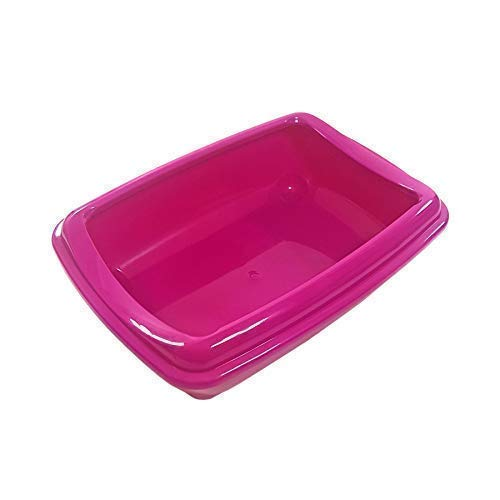 "Offiziell Lizenziertes Katze Haustier Katzentoilette Toilette Acryl Pink 43 X 30 X 11CM - 17 \"" X 12 \"" X 5 \"""