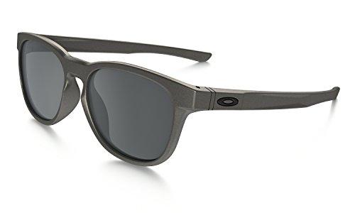 Oakley stringer occhiali da sole, nero (lead), 55 uomo