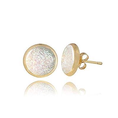 Les petits clous d'oreilles champagne brillants de goujon de Dragon Porter